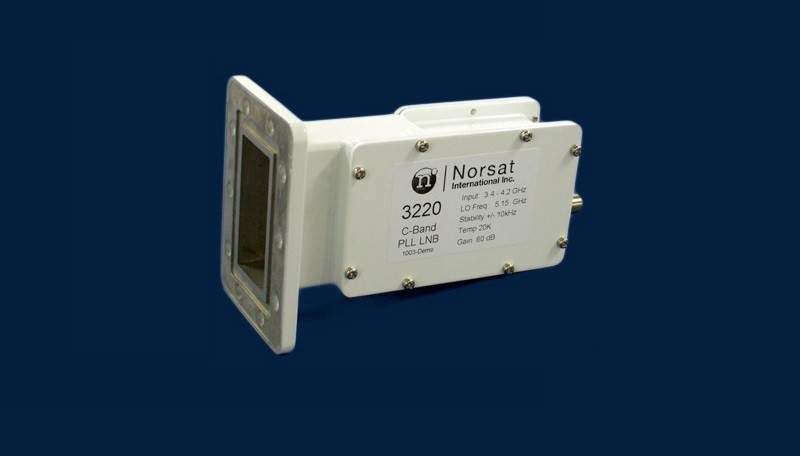 LNB, C-band, PLL, 3.4-4.2 GHz, LO Stability:+/-5 KHZ, Noise Temperature (20K), F connector - 75 Ohms.